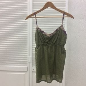Anthropolgie Da-Nang Olive Cotton Top- Size S